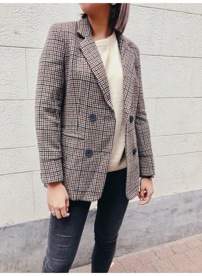 Blazer - pattern / Beige - Green