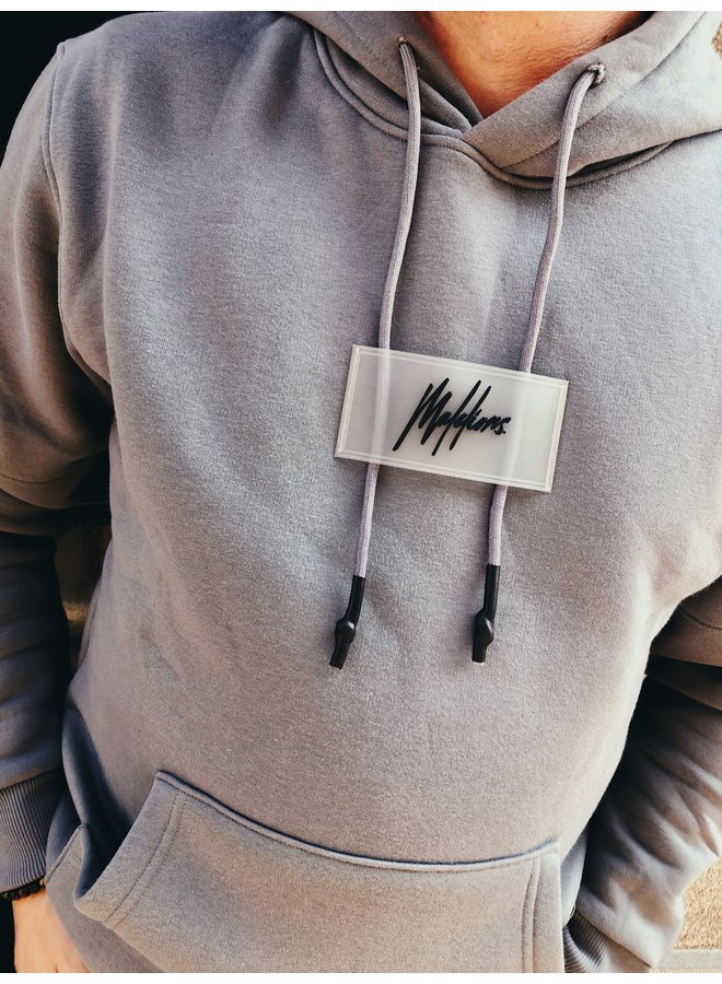 Hoodie - Insert label / Matt Grey