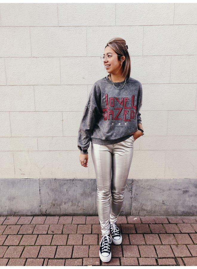 Pants - Cara Metallic - PU / Silver