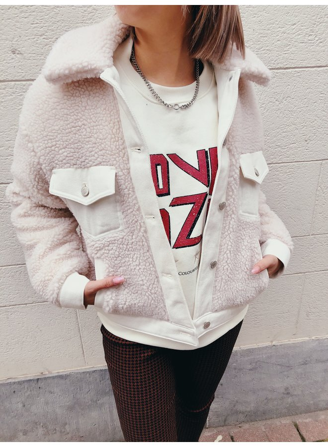 Sweater - Love Dazed - Dropped Shoulder / Offwhite