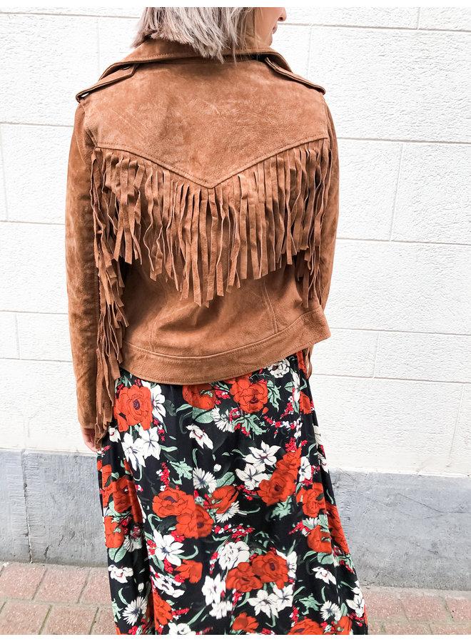 Jacket - Nathalie Leather Fringe / Brown