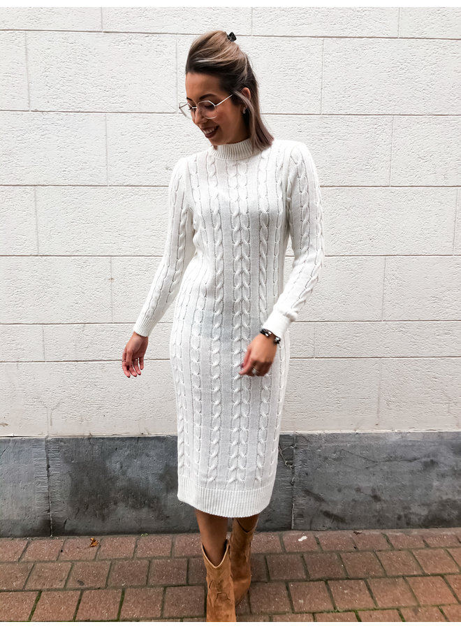 Dress - Long - Cable Dres / white