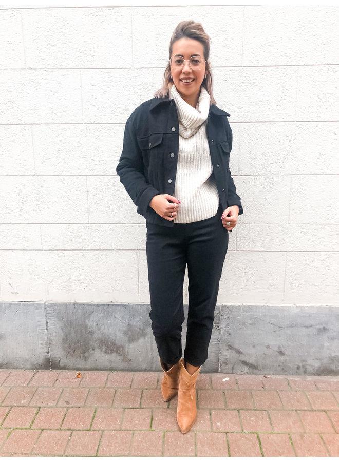 Jeans - Highwaist - Straight / Black