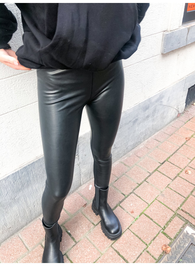 Legging - Party Leather Look / Black