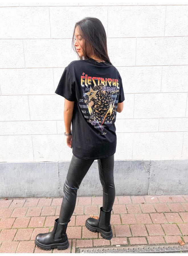 T-Shirt - Electrique D'amour Loosefit / Black