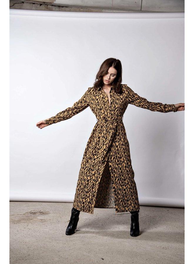 Dress - Long - Dani / Animal Print - Yellow