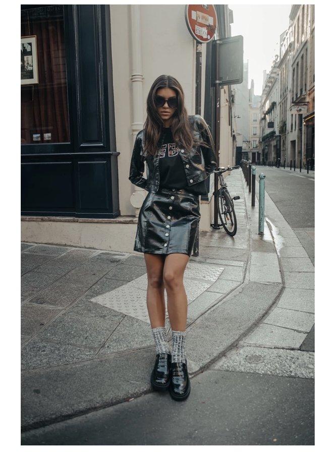 Skirt - Paloma Button - Down Skirt / Black
