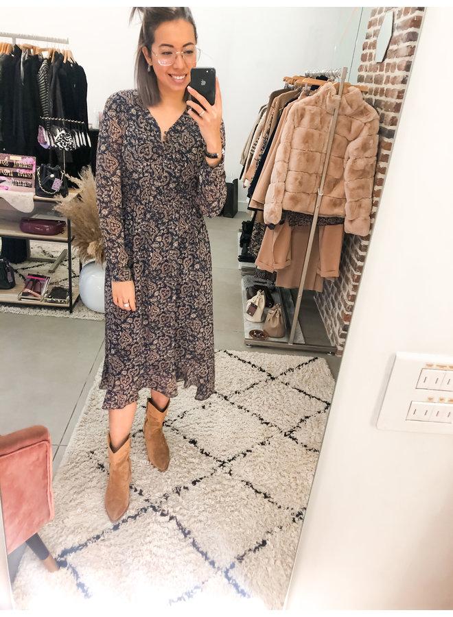 Dress - Long - See Tru print / Navy