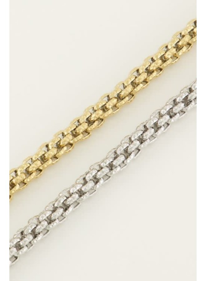 Armband - Chunky Schakels Motief / Goud
