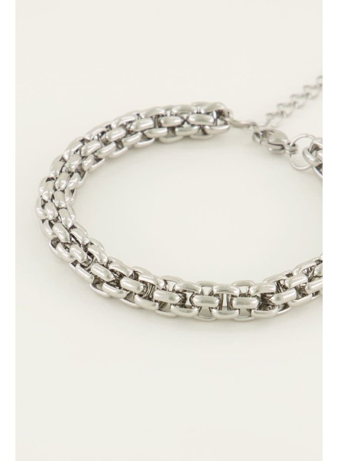 Armband - Chunky Schakels / Zilver