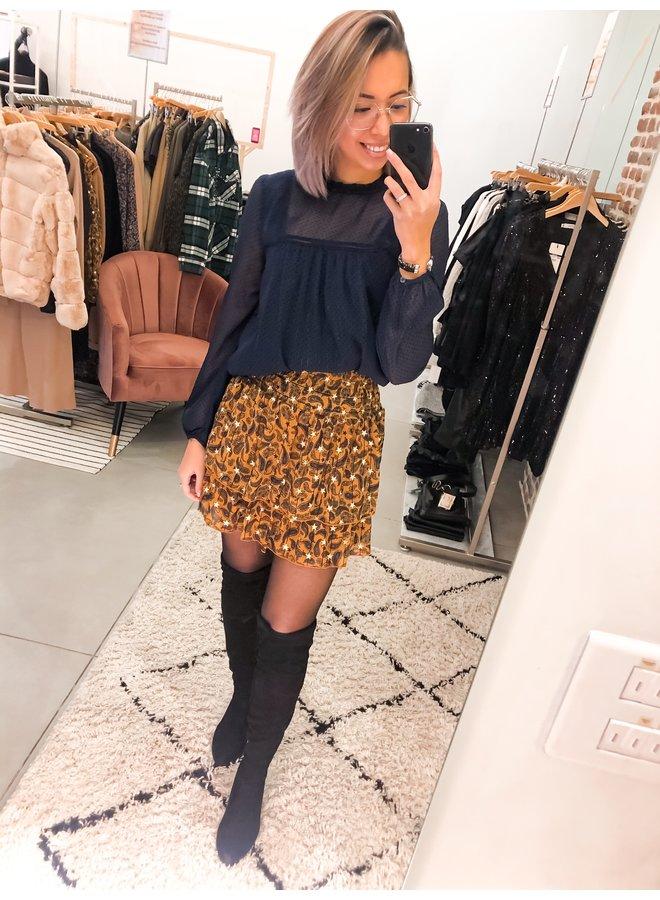 Skirt - Daphne Paisley Mini Layer / Brown