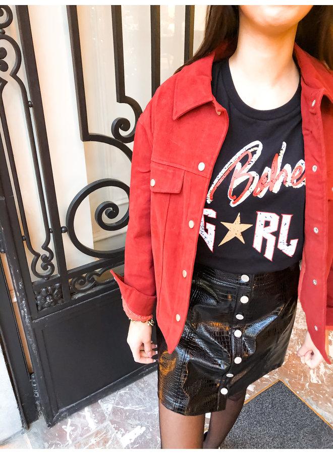 Jacket - Button - Oversized / Brick