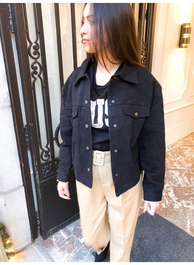 Jacket - Button - Oversized / Black