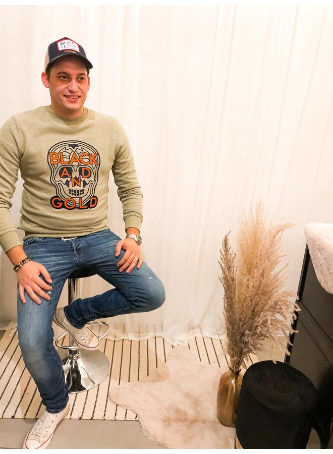 Sweater - Craneo Basico / Khaki Melange