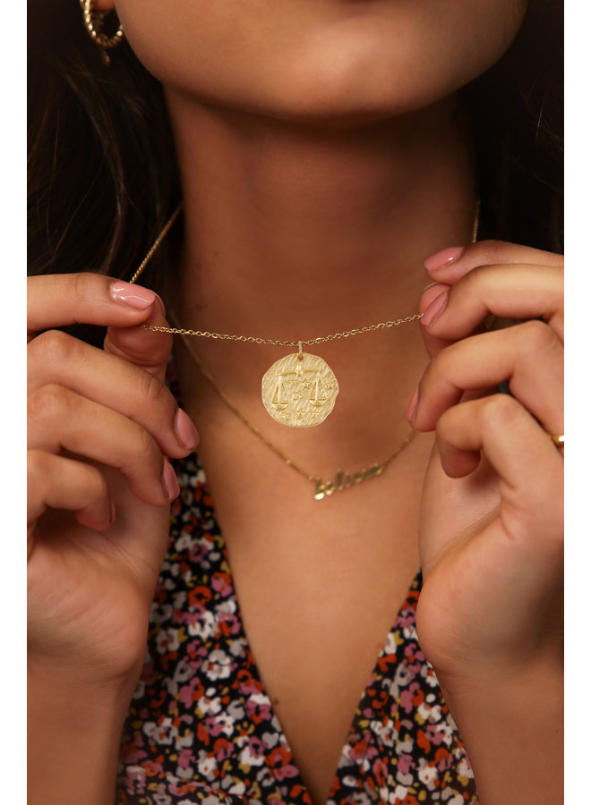 Ketting zodiac Weegschaal / goud