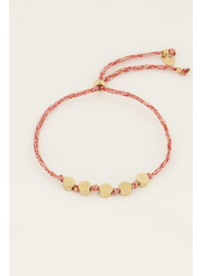 Touw armband amour / goud