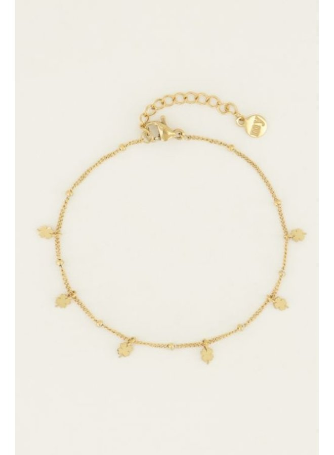 Armband klaviertjes / goud