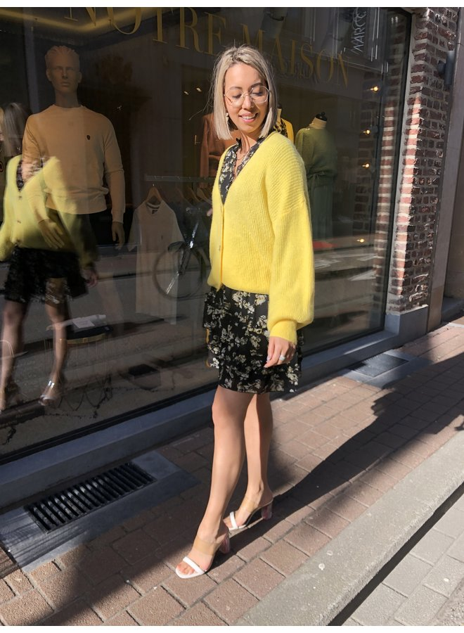 Cardigan - Button / Sunny Yellow