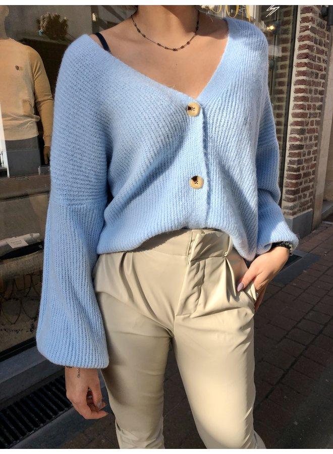 Cardigan - Button / Light Blue