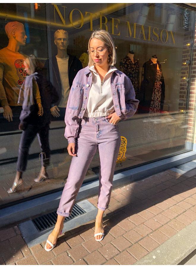 Vest - Kort jeans model Leah / Pink
