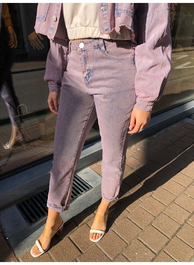 Jeans - Leah Mom / Pink