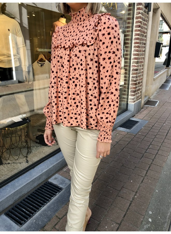 Blouse - Red Roses / Peachy