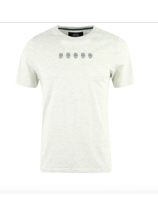 T-Shirt - Tchinquosneon / Ecru Melange