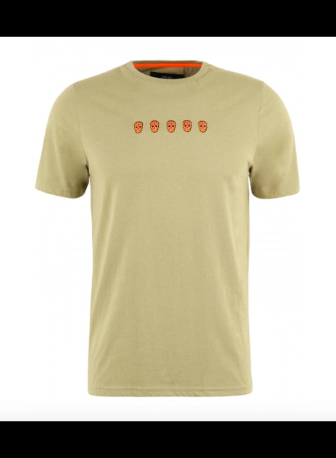 T-Shirt - Tchinquosneon / Khaki Melange