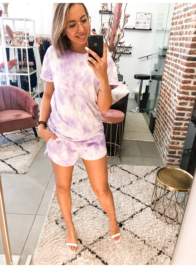Short - Tie-Dye Sweat Short / Lila