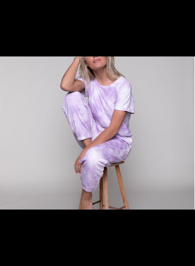 T-Shirt - Tie-Dye Boxy / Lila