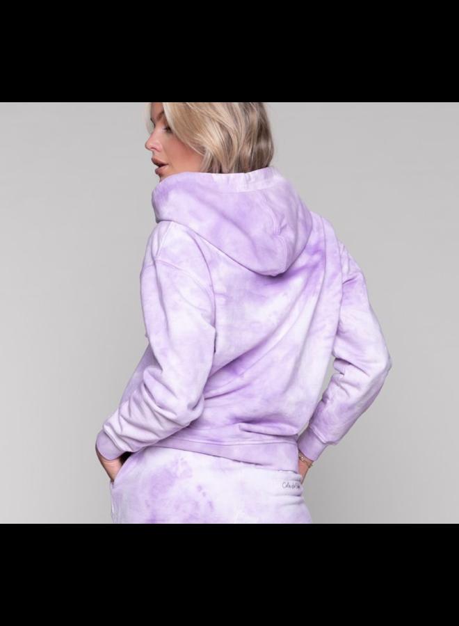 Hoodie - Tie Dye Oversized / Lila