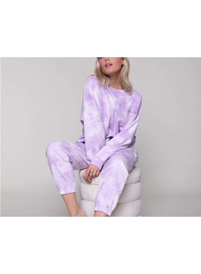 Sweater - Tie-Dye Dropped Shoulder / Lila