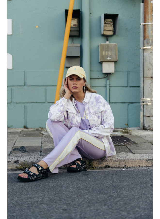 Blouse - Jaimy  Tie Dye Boyfriend / Lila-White