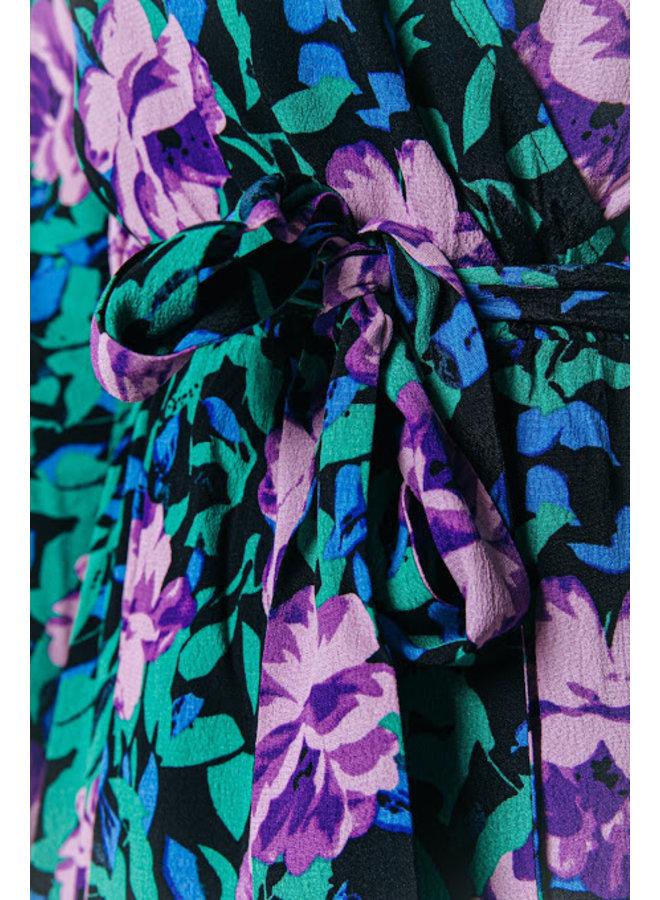 Jurk - Maya Flower Maxi Wrap / Multicolor