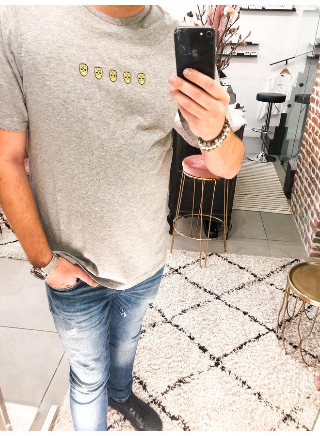 T-Shirt - Tchinquosneon / Grey melange