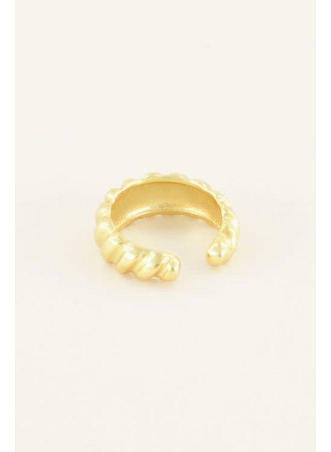Ear Cuff - Croissant / Goud