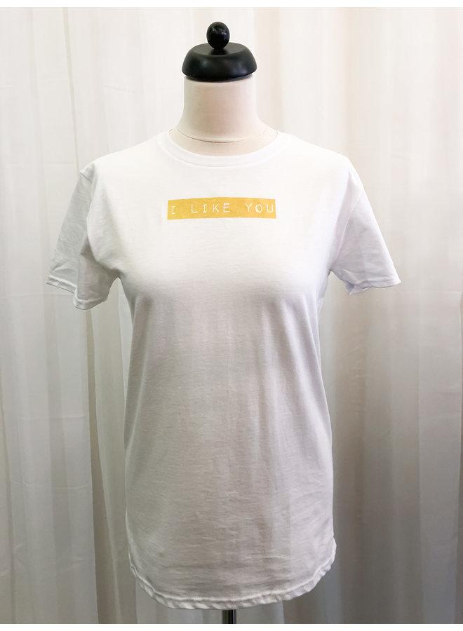 T-Shirt - I Like You / White