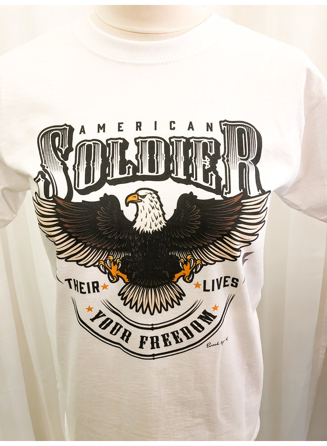 T-Shirt - American Soldier / White