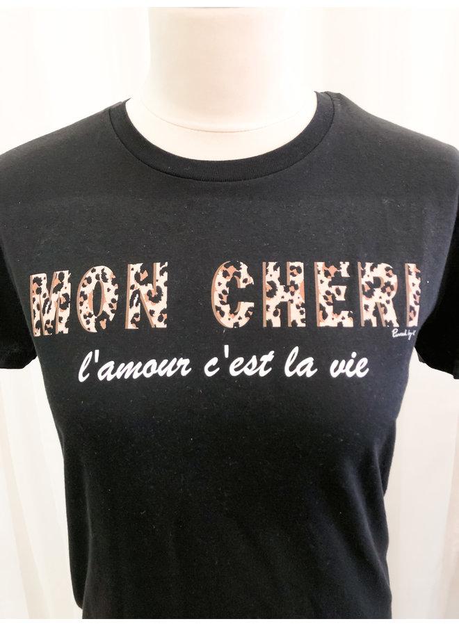 T-Shirt - Mon Cheri / Black