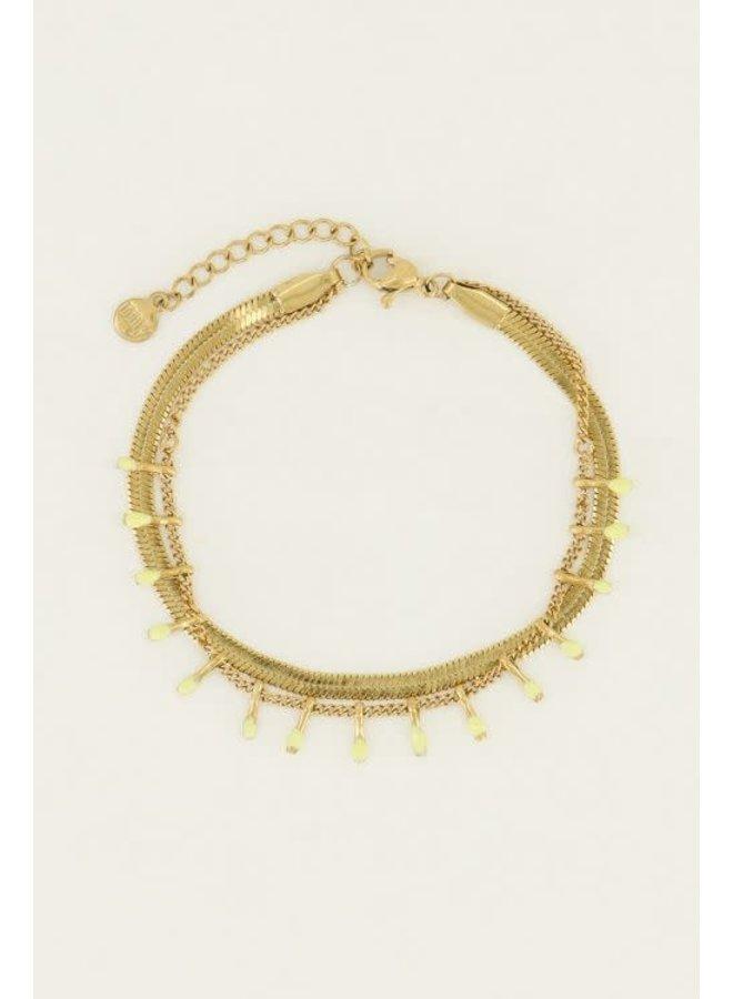 Armband - Dubbel - Geel / Goud