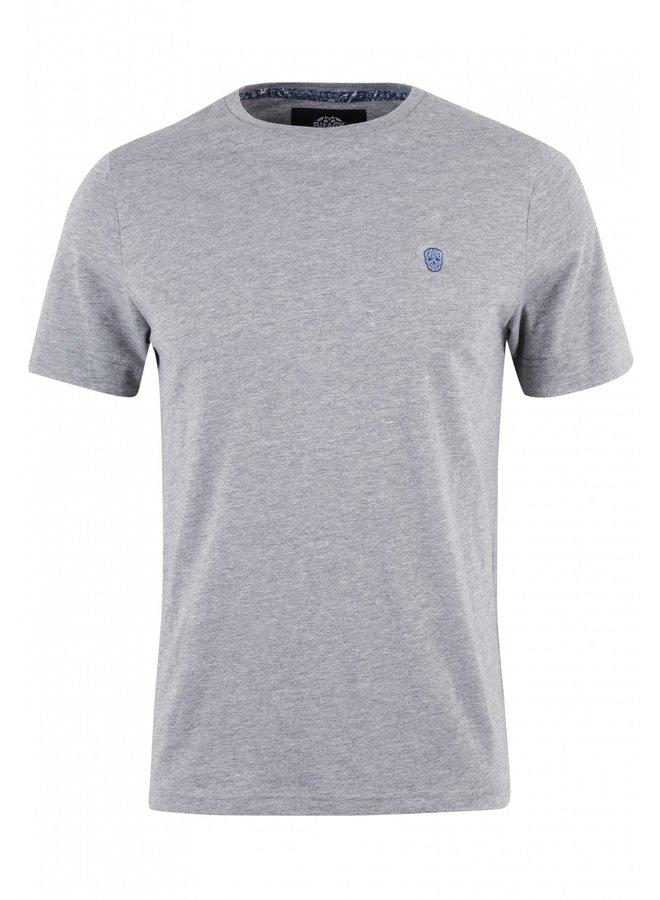 T-Shirt - Furtos / Grey Melange - Blue Skull - Bandana