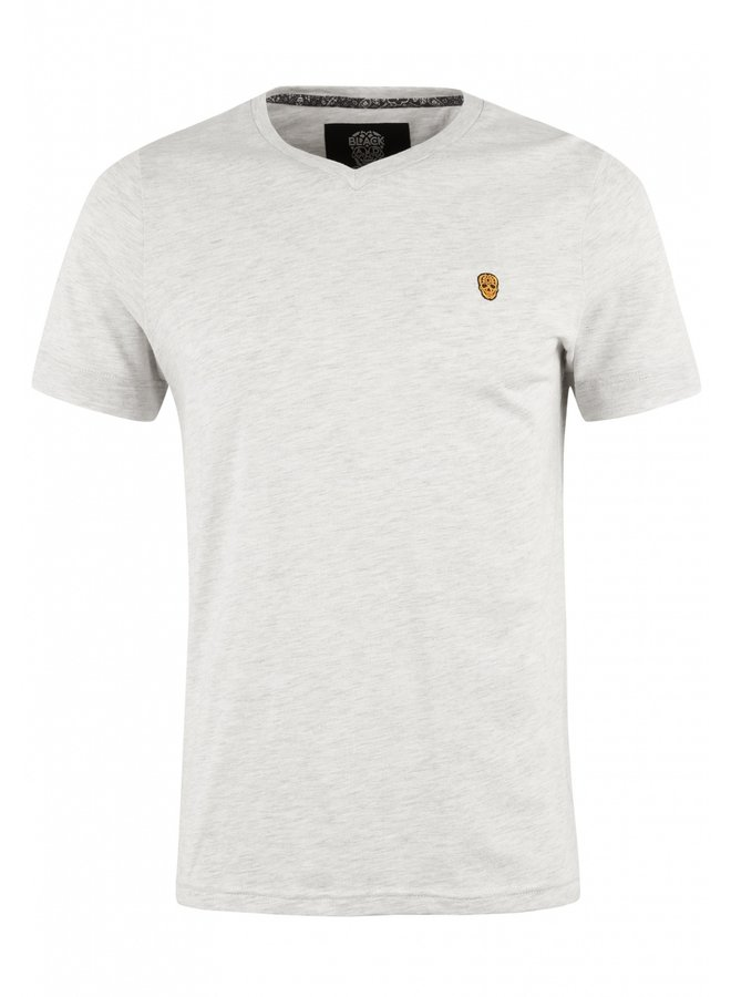 T-Shirt - Vurtanos / Ecru Melange - Orange Skull - Bandana