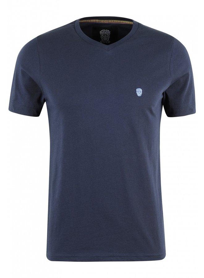 T-Shirt - Vurtanos / Navy - Blue Skull - Mexico Print