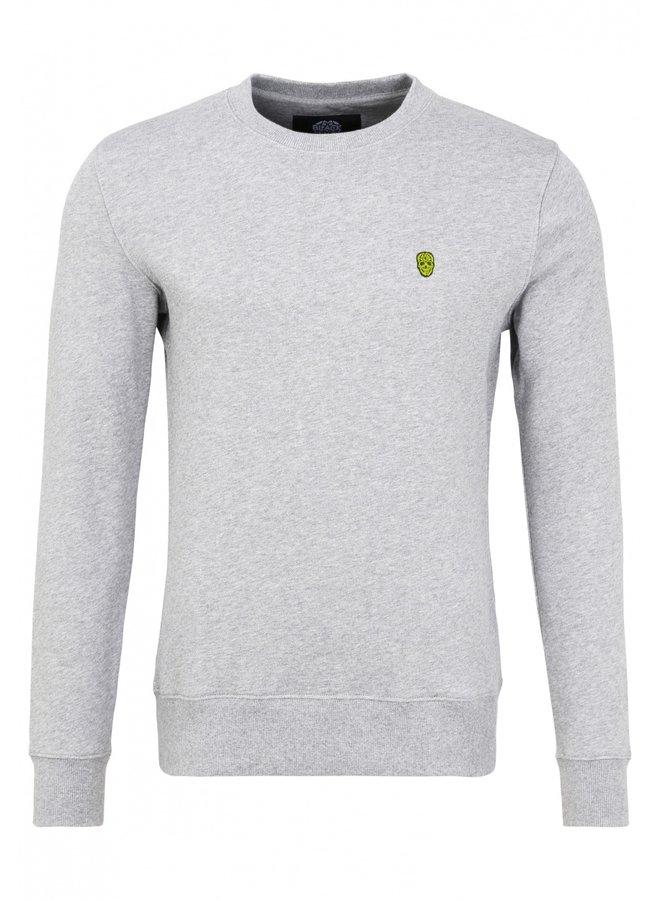 Sweater - Raglos / Grey Melange - Yellow Skull