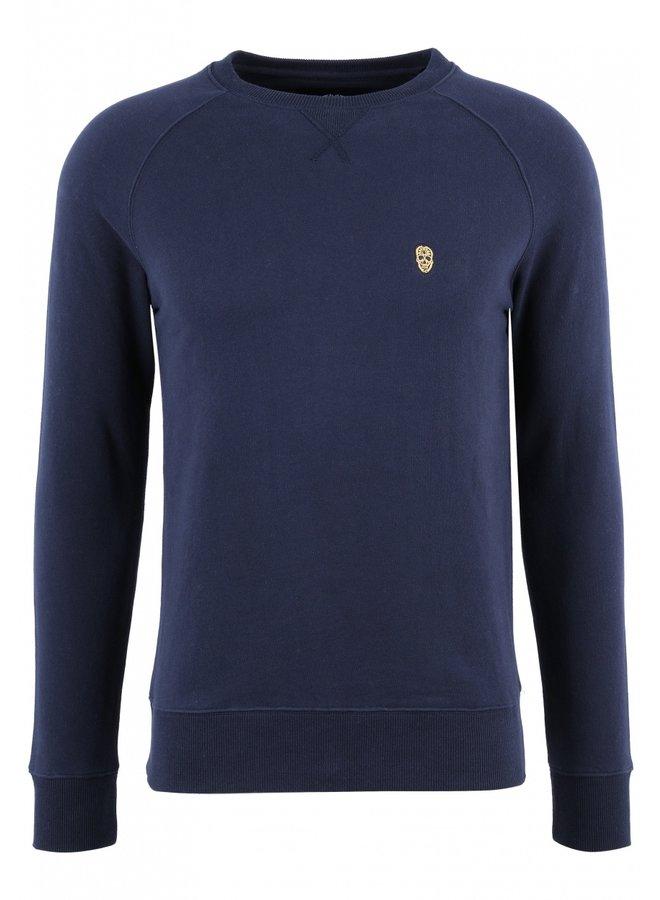 Sweater - Raglos / Navy - Yellow skull