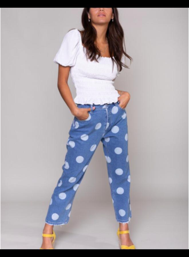 Jeans  - Bo Dots Boyfriend / Blue