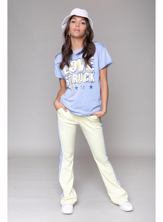 T-Shirt - Love Struck Boxy / Light Blue