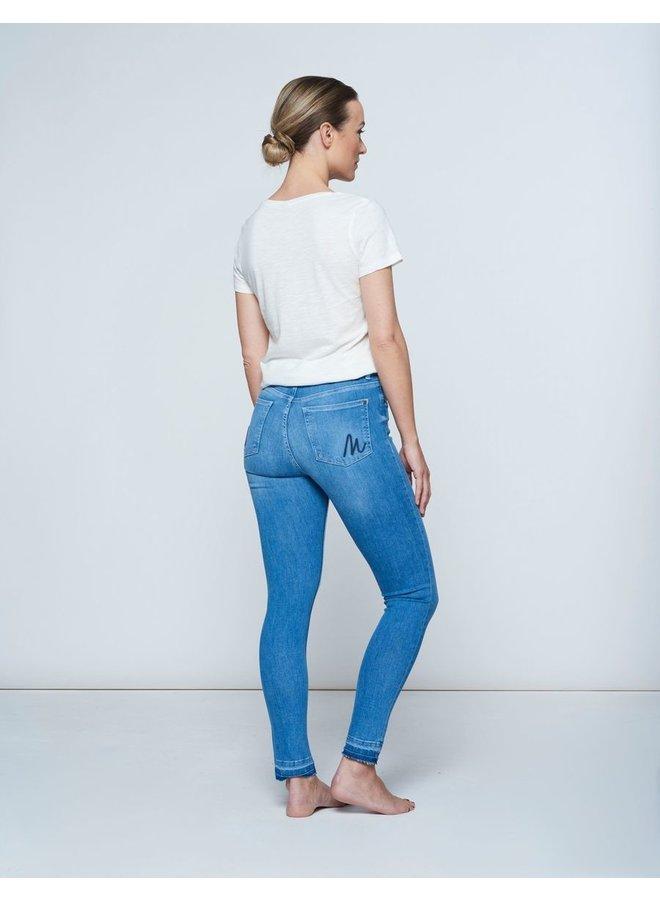Jeans - Pippa - Ruffle / Mid Blue