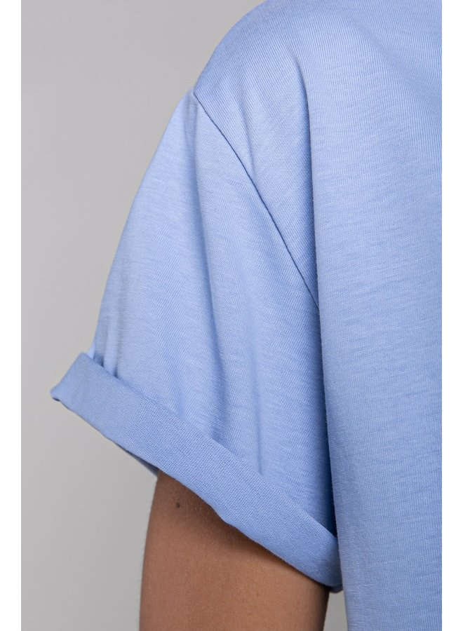 T-shirt - Love Struck Boxy / Blue