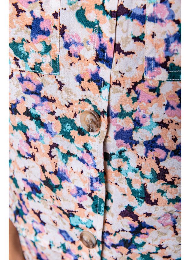 Top - Kira Aquarel Pocket Strap